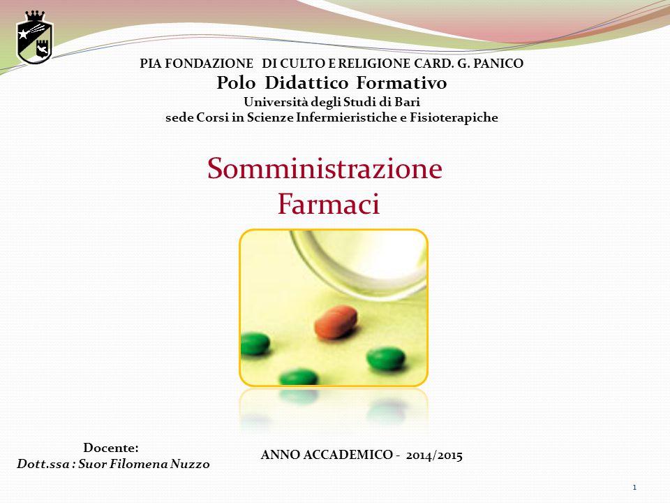 Somministrazione Farmaci Polo Didattico Formativo
