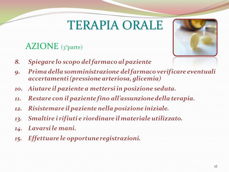TERAPIA ORALE AZIONE (3°parte)