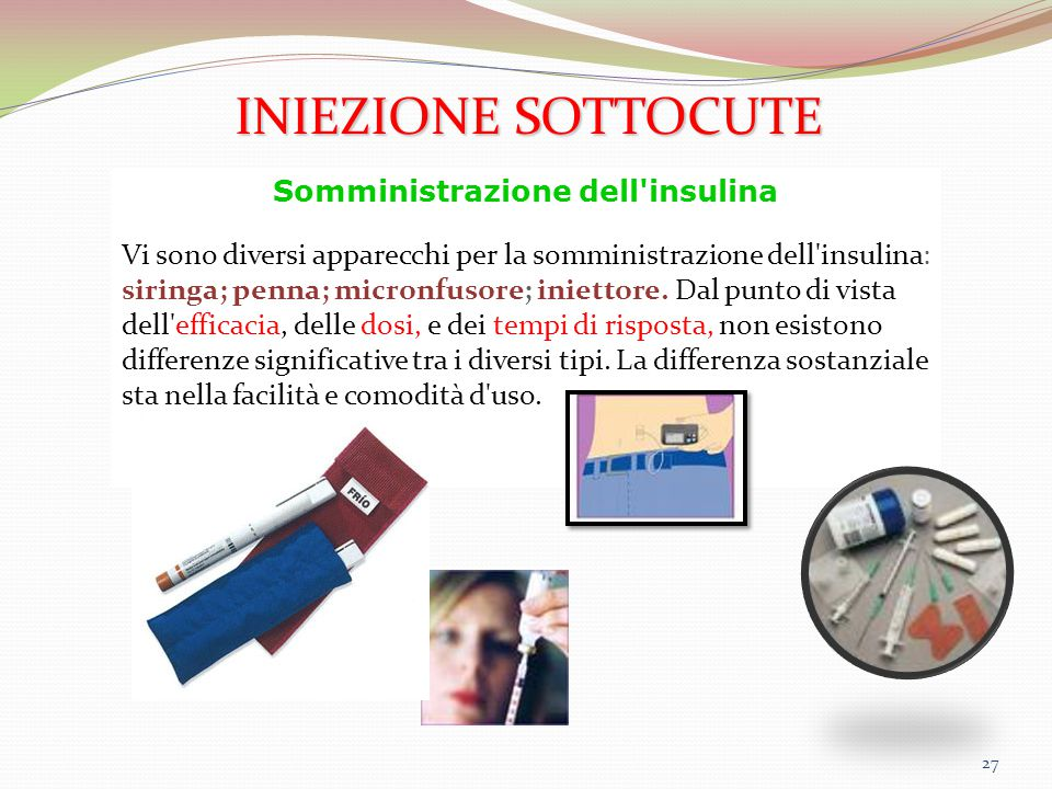 Somministrazione dell insulina