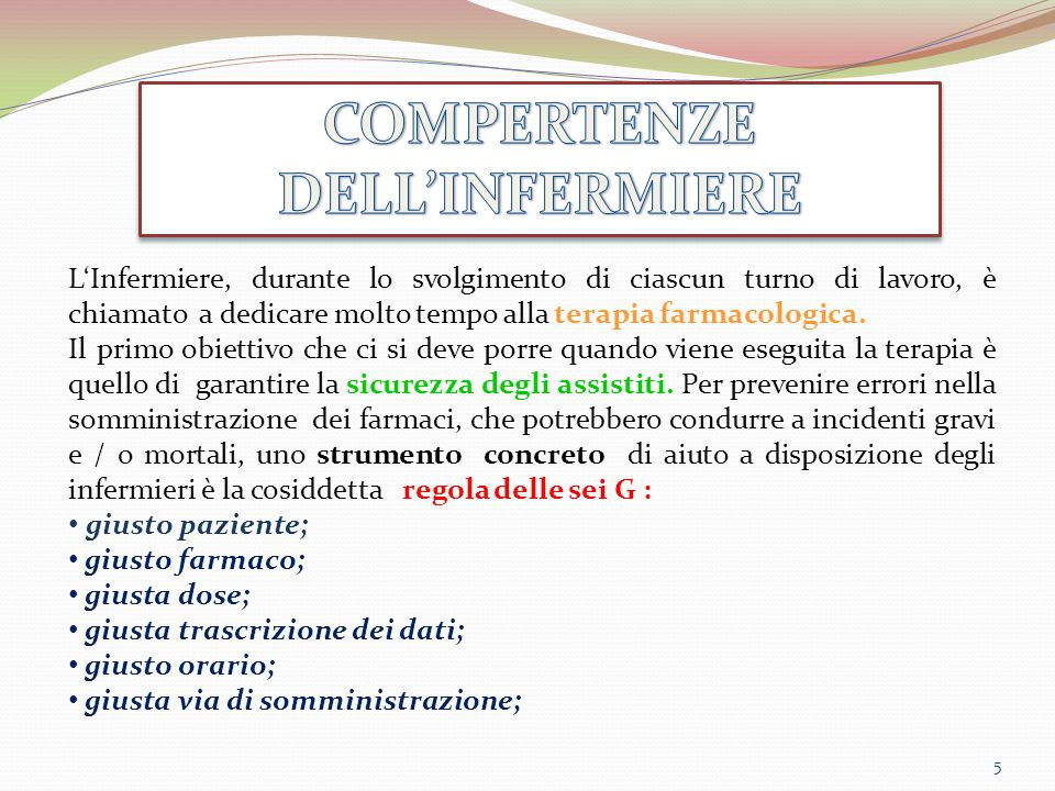 COMPERTENZE DELL'INFERMIERE