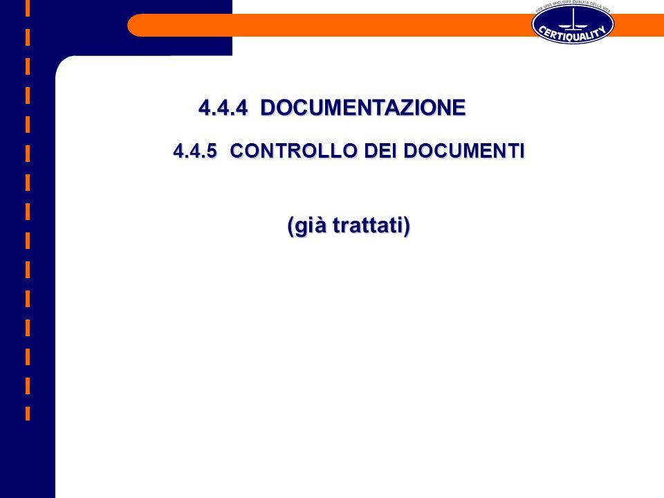4.4.5 CONTROLLO DEI DOCUMENTI