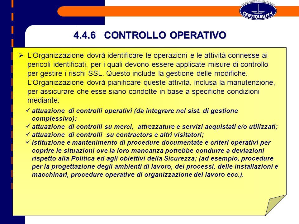4.4.6 CONTROLLO OPERATIVO