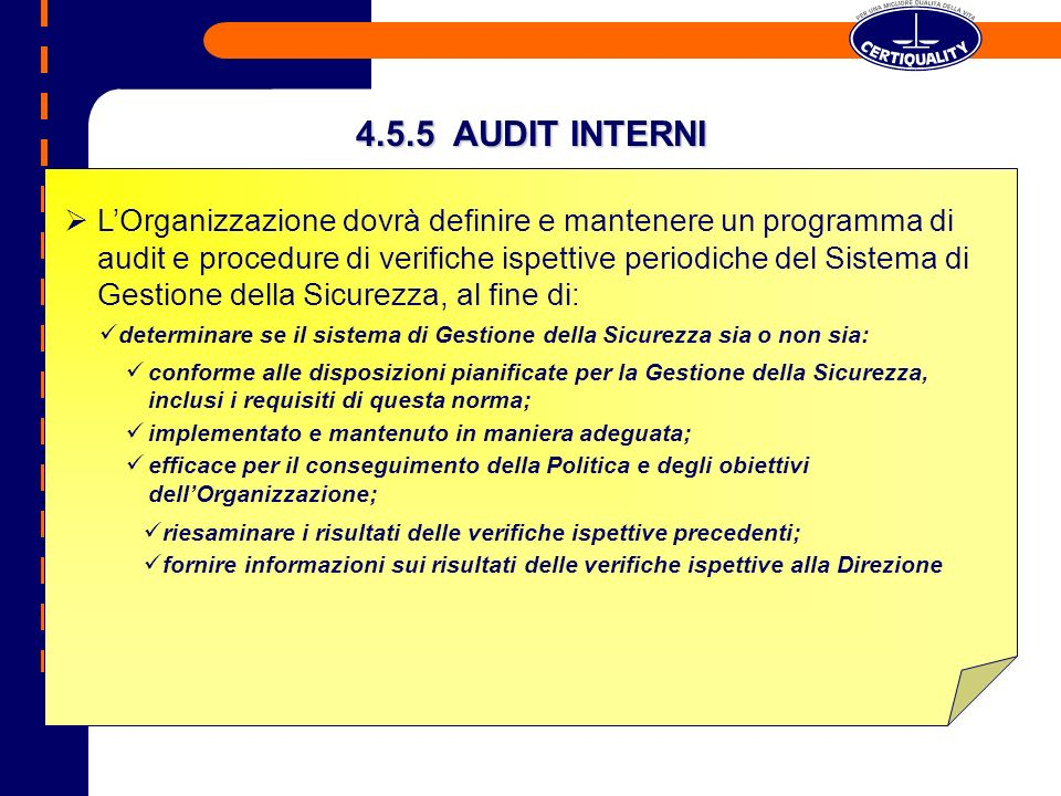 4.5.5 AUDIT INTERNI
