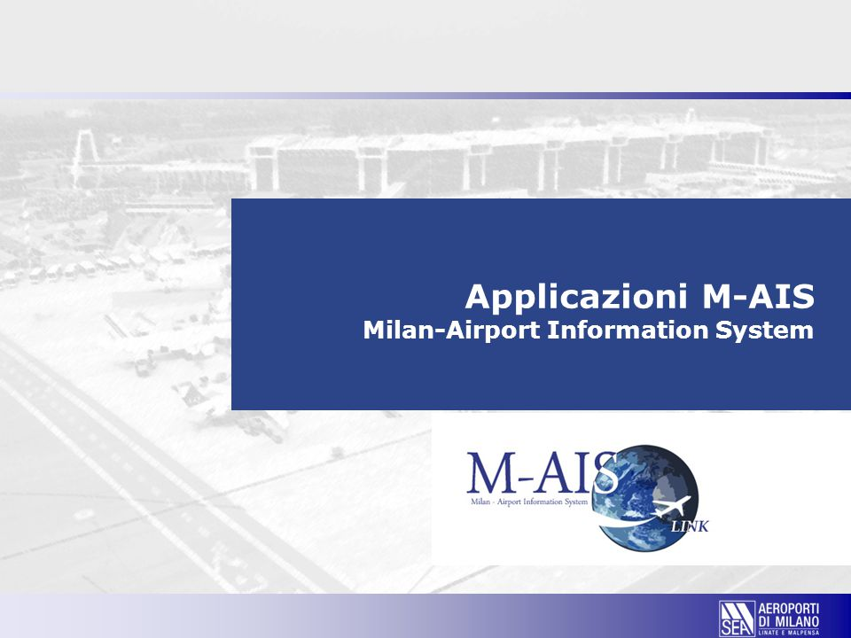 Applicazioni M-AIS Milan-Airport Information System