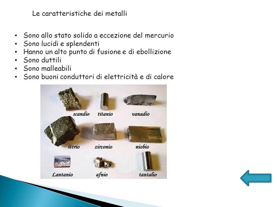 Le caratteristiche dei metalli