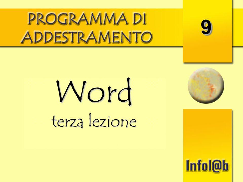 9 Word terza lezione