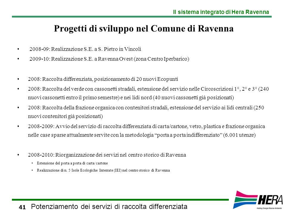 Progetti di sviluppo nel Comune di Ravenna