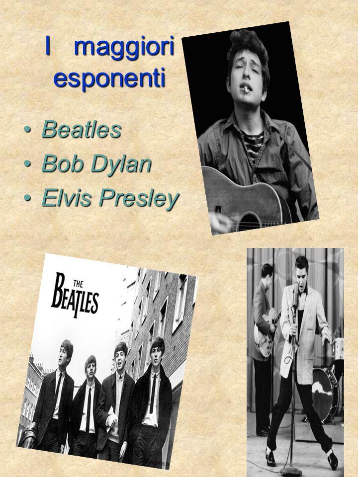 I maggiori esponenti Beatles Bob Dylan Elvis Presley