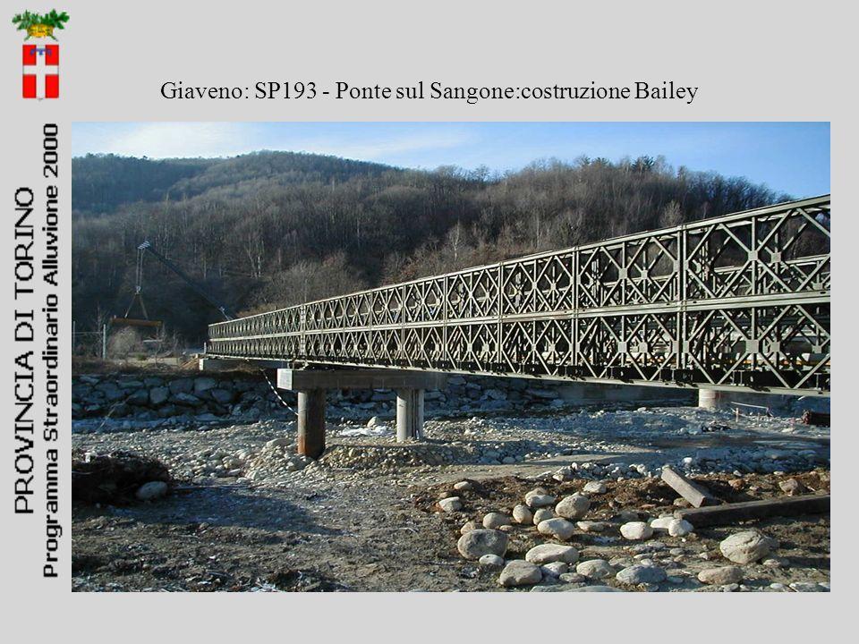 Giaveno: SP193 - Ponte sul Sangone:costruzione Bailey