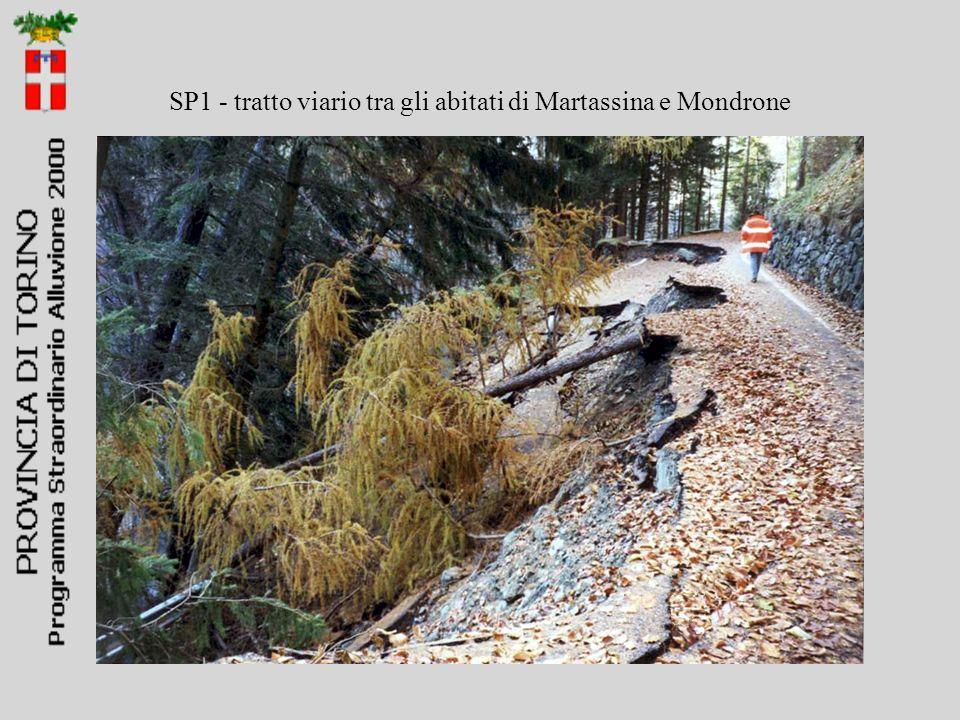 SP1 - tratto viario tra gli abitati di Martassina e Mondrone