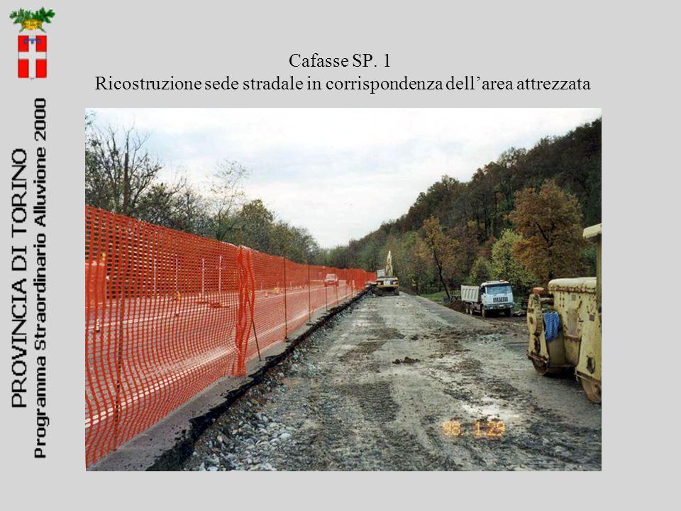 Cafasse SP. 1 Ricostruzione sede stradale in corrispondenza dell'area attrezzata