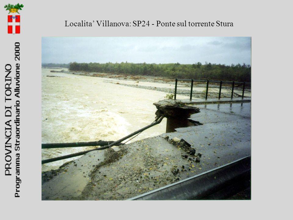 Localita' Villanova: SP24 - Ponte sul torrente Stura
