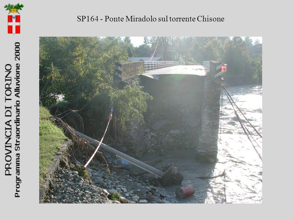 SP164 - Ponte Miradolo sul torrente Chisone