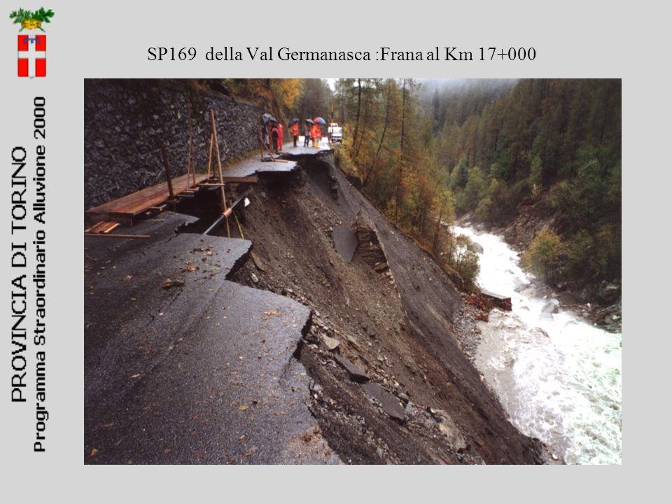 SP169 della Val Germanasca :Frana al Km 17+000