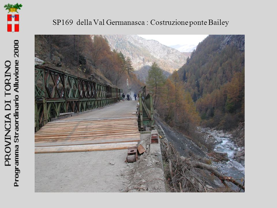 SP169 della Val Germanasca : Costruzione ponte Bailey