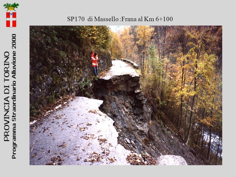 SP170 di Massello :Frana al Km 6+100