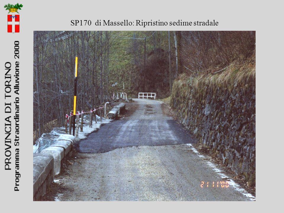 SP170 di Massello: Ripristino sedime stradale