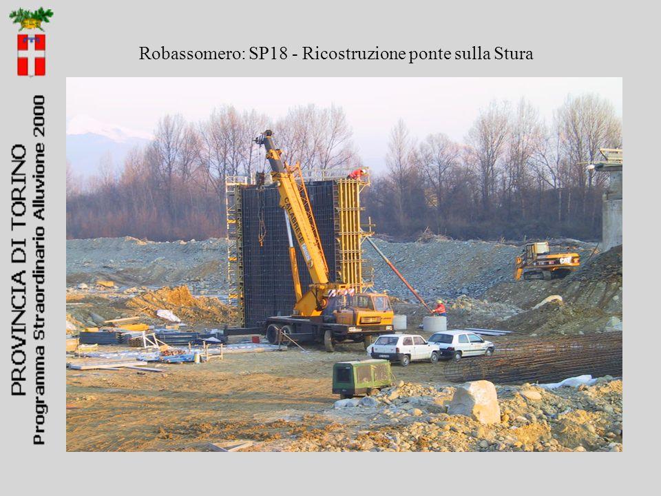 Robassomero: SP18 - Ricostruzione ponte sulla Stura