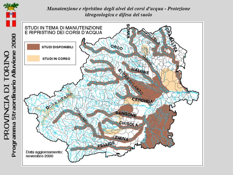 Manutenzione e ripristino degli alvei dei corsi d acqua - Protezione idrogeologica e difesa del suolo
