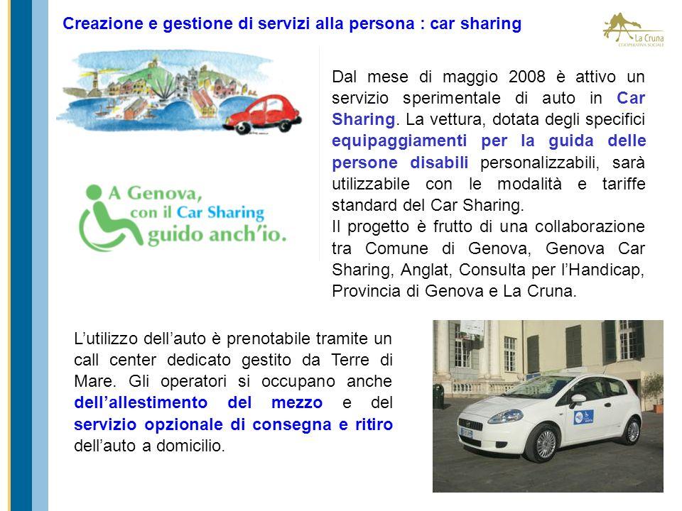 Creazione e gestione di servizi alla persona : car sharing