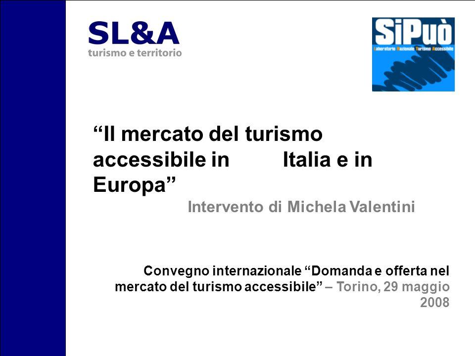 Il mercato del turismo accessibile in Italia e in Europa