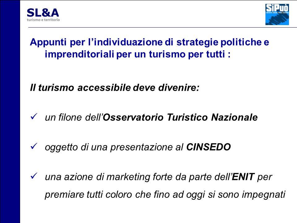 Appunti per l'individuazione di strategie politiche e imprenditoriali per un turismo per tutti :