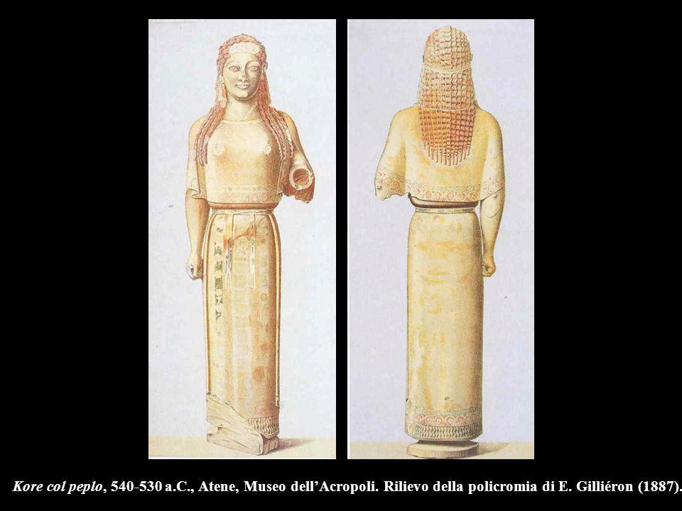 Kore col peplo, 540-530 a. C. , Atene, Museo dell'Acropoli