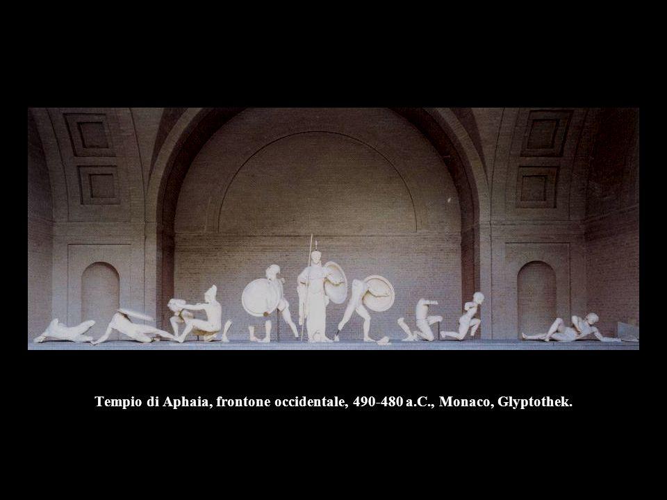 Tempio di Aphaia, frontone occidentale, 490-480 a. C
