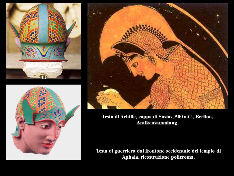 Testa di Achille, coppa di Sosias, 500 a.C., Berlino, Antikensammlung.