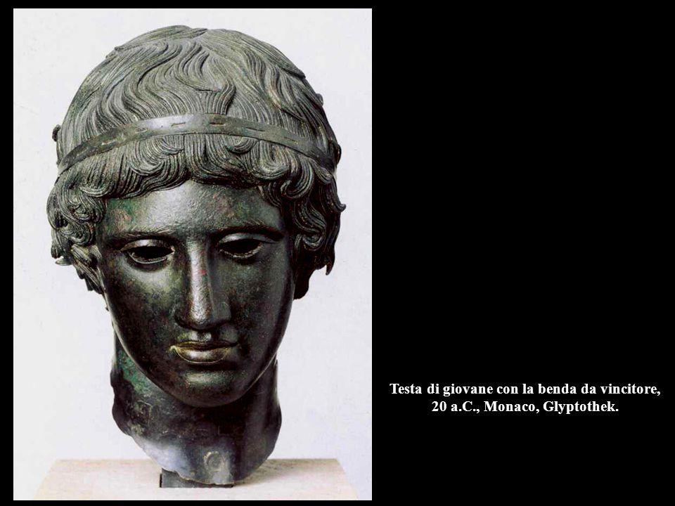 Testa di giovane con la benda da vincitore, 20 a. C