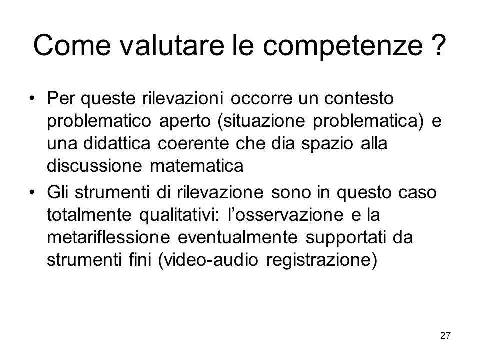 Come valutare le competenze