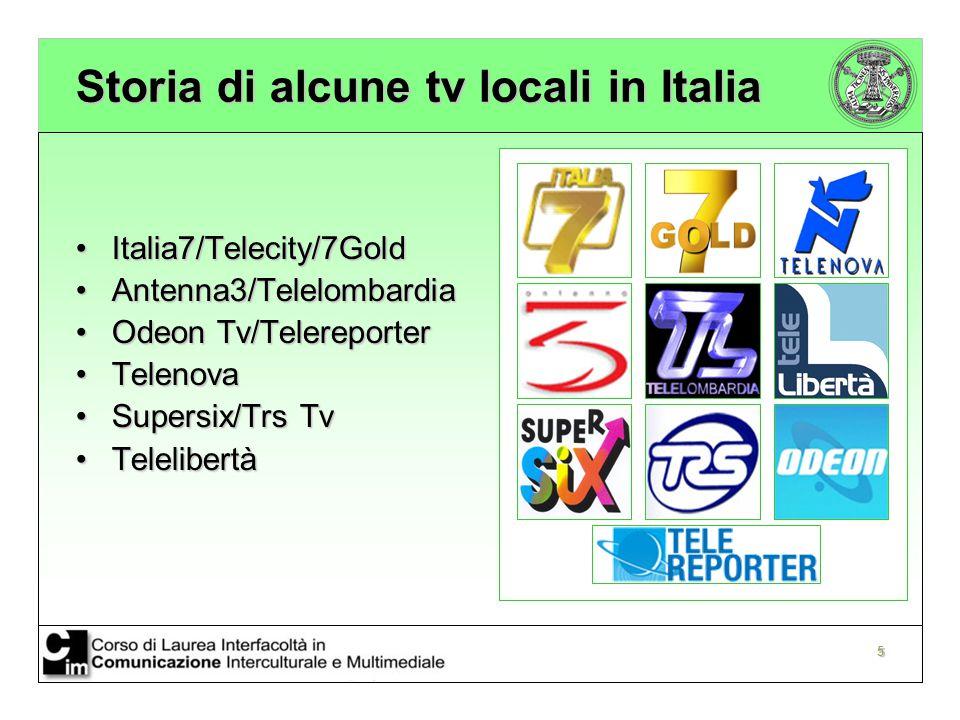 Storia di alcune tv locali in Italia