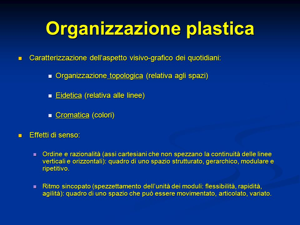 Organizzazione plastica