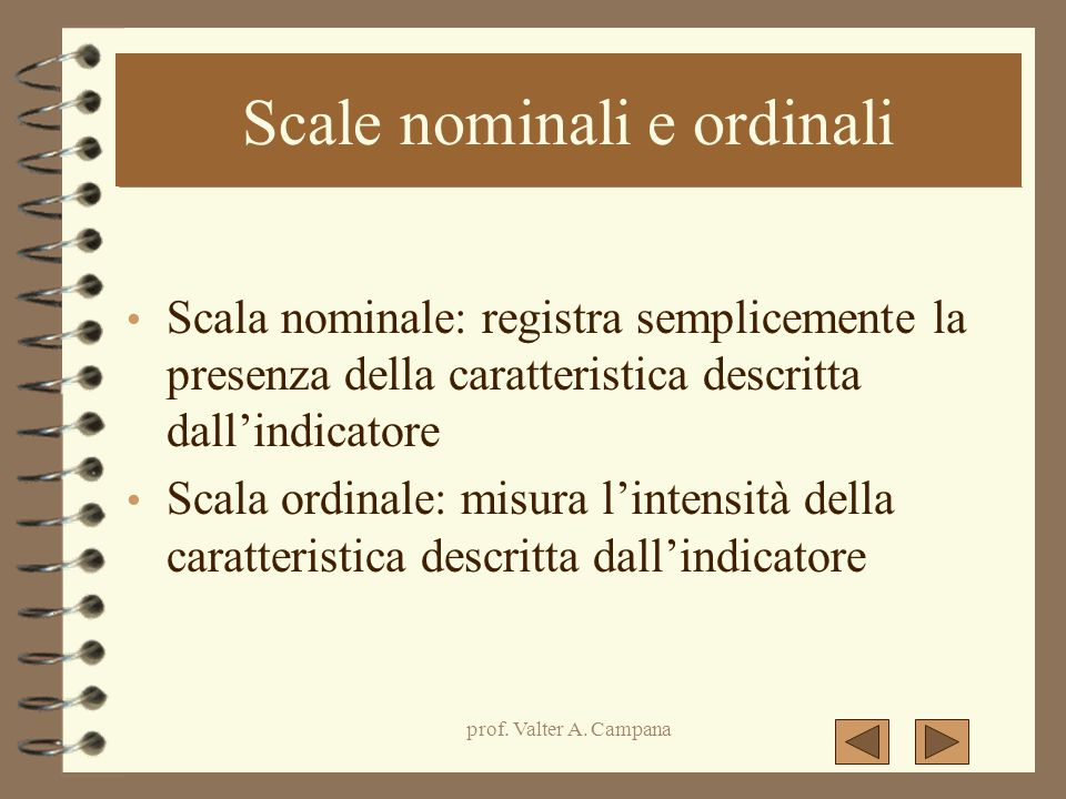Scale nominali e ordinali