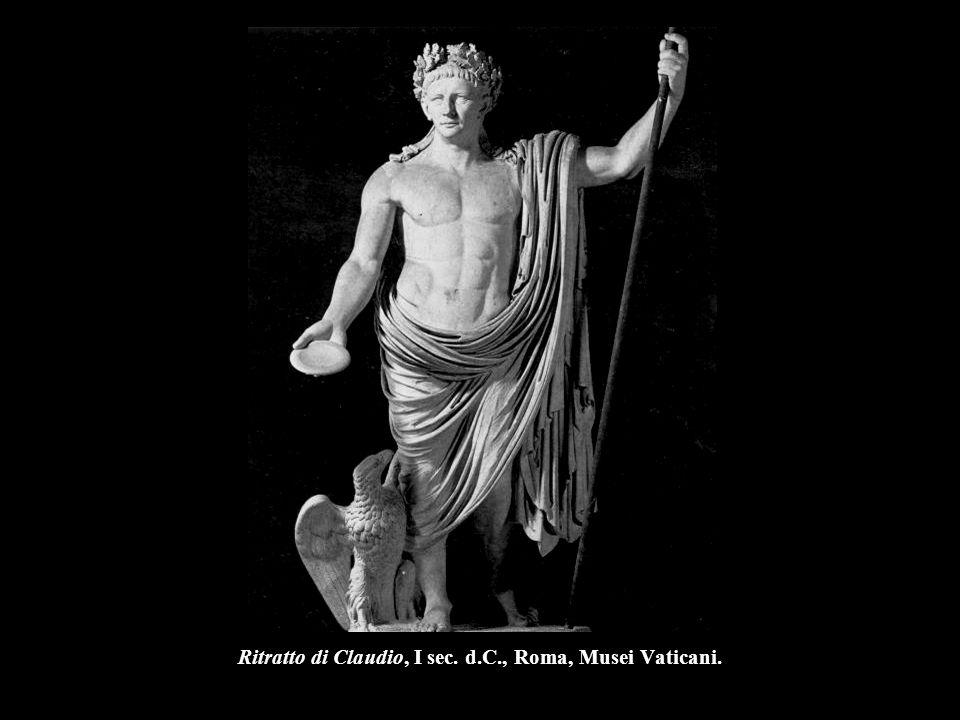 Ritratto di Claudio, I sec. d.C., Roma, Musei Vaticani.