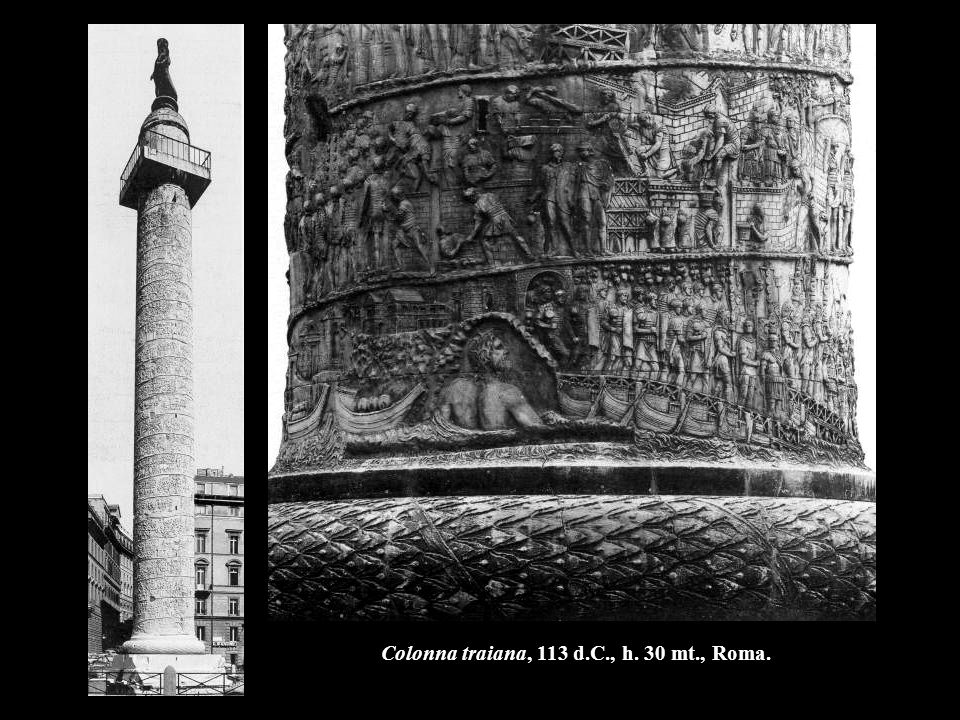 Colonna traiana, 113 d.C., h. 30 mt., Roma.