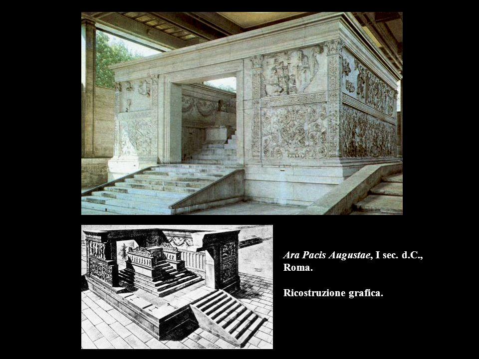 Ara Pacis Augustae, I sec. d.C., Roma. Ricostruzione grafica.