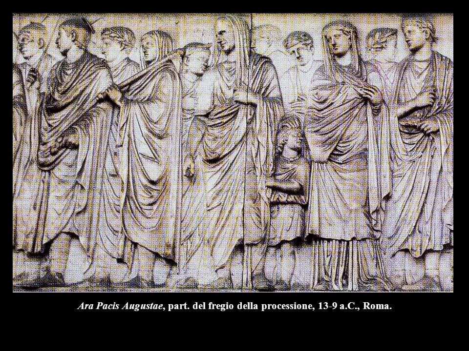 Ara Pacis Augustae, part. del fregio della processione, 13-9 a. C