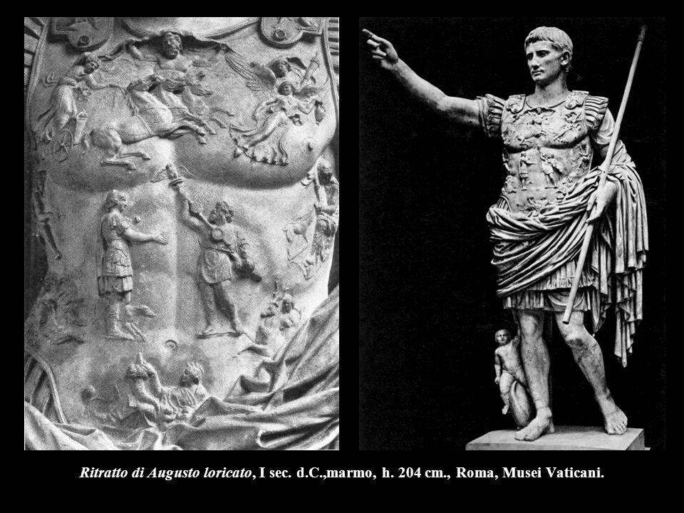 Ritratto di Augusto loricato, I sec. d. C. ,marmo, h. 204 cm