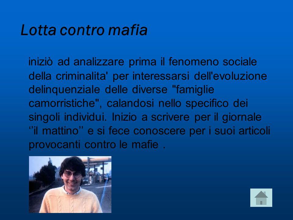 Lotta contro mafia