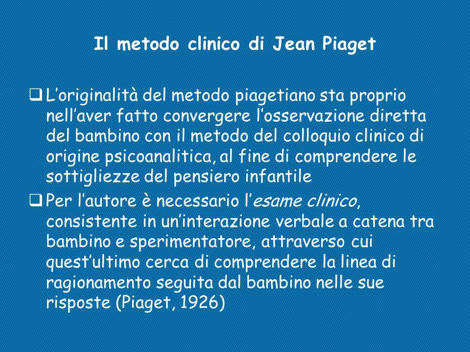 Il metodo clinico di Jean Piaget