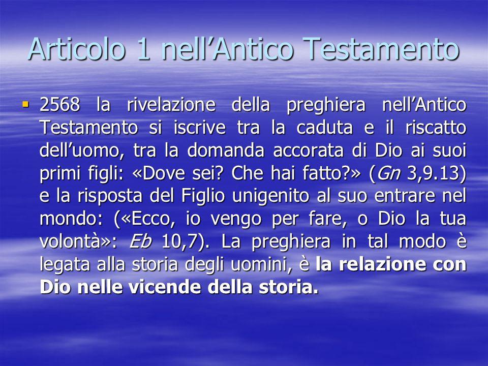 Articolo 1 nell'Antico Testamento