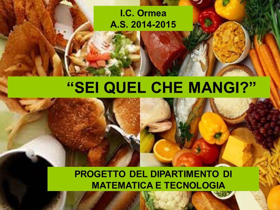PROGETTO DEL DIPARTIMENTO DI MATEMATICA E TECNOLOGIA