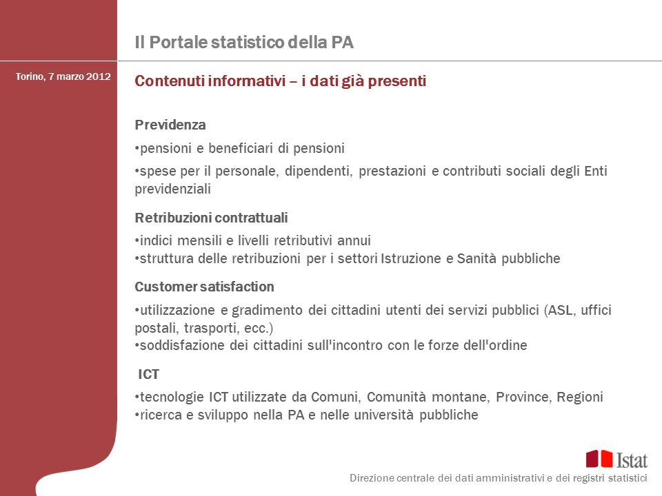 Il Portale statistico della PA