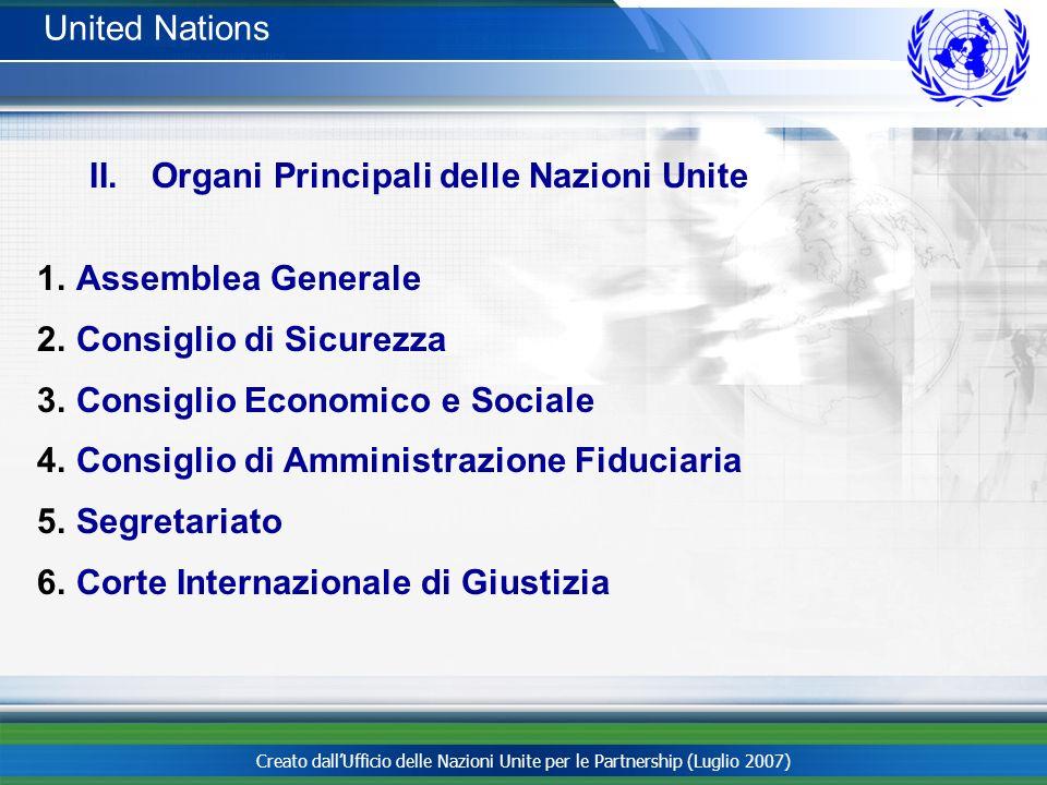 Organi Principali delle Nazioni Unite