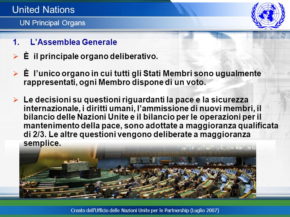 United Nations L'Assemblea Generale