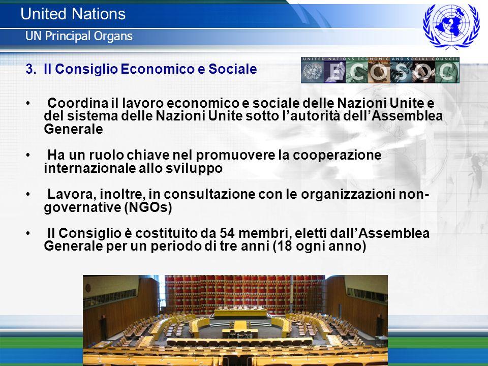 United Nations Il Consiglio Economico e Sociale