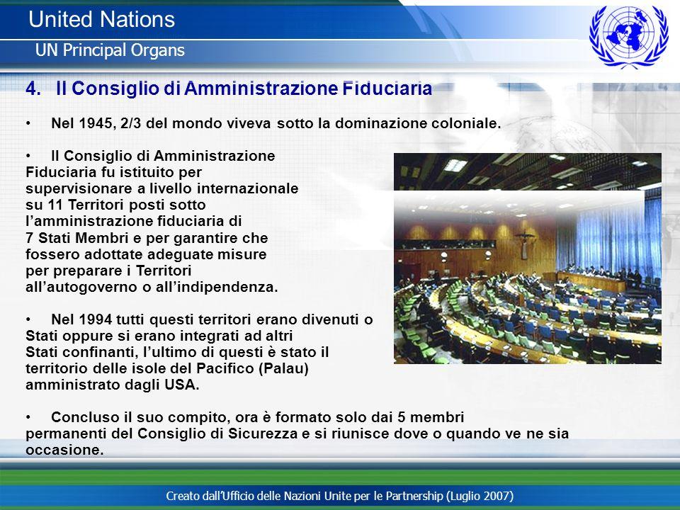 United Nations Il Consiglio di Amministrazione Fiduciaria