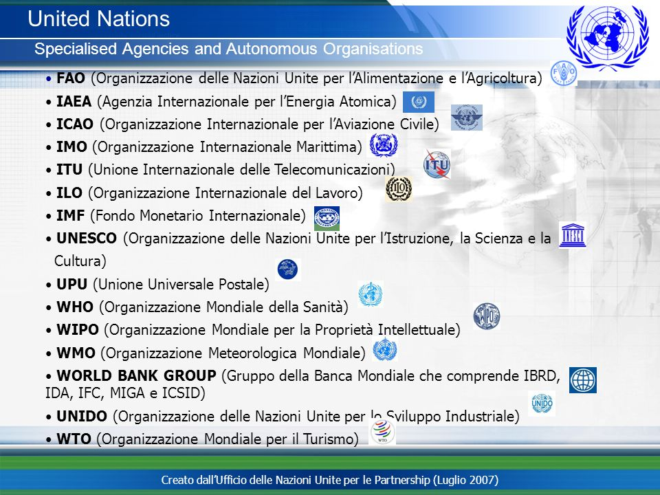 United Nations Specialised Agencies and Autonomous Organisations