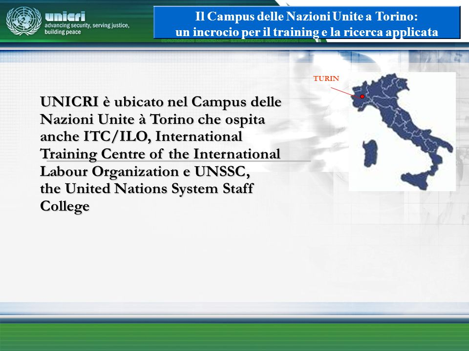 Il Campus delle Nazioni Unite a Torino: